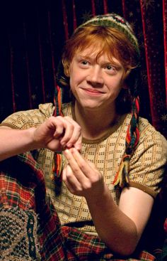 Least Favourite Male Character: Ron Weasley. I don't like his attitude and I don't like his attitude. I don't like how he treats his friends a lot of the time and ... I just don't like him.
