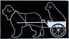 Original Newfoundland Dog  Vinyl Decal by Sharon  by caninepainter, $8.00