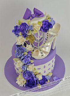 Fashionista shoe bridal shower cake by Design Cakes, via Flickr