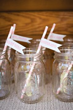 pink party straws