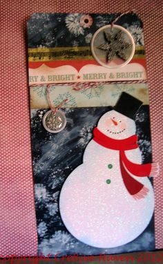 Handmade tag: Merry and Bright