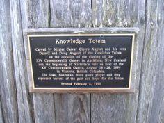 Knowledge Totem plaque