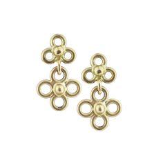 18kt Gold Etruscan Earrings- Jessica Fields