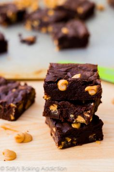 ultimate fudge brownies with peanut butter chips.