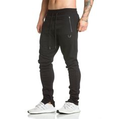 Spring new Mens Fitness Brand Sweatpants Pant male Bodybuilding drawers Elastic band Solid color trousers Crossfit Pencil pants #Affiliate