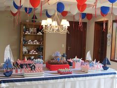 Navy party theme @Joy Cox LOOK!