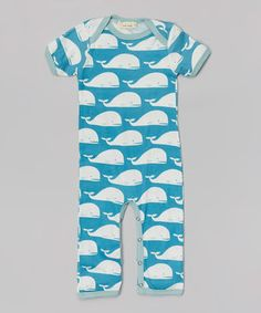 Loving this zebi Blue Whale Organic Playsuit - Infant on #zulily! #zulilyfinds