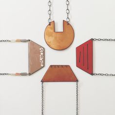 Enameled copper pendants @littletorodesigns littletorodesigns.com