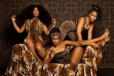 SHiiKANE Singers takes on bold prints for Safari themed photoshoot   The SHiiKANE sisters went all out in a newly released themed photoshoot.  play SHiiKANE  Taking on leopard print leotards against a bold print background the ladies showed off skin in fierce poses for the tribal inspired shoot.  All wearing flawless makeover the ladies had their hair exaggerated in full ruffled natural looking styles and braids supported by tribal print scarfs for the 'Sexy soldier and Africa's natural…