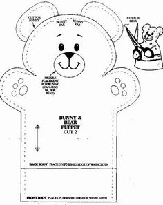 Solountip.com: Vilt - teddy bear puppet - maci báb
