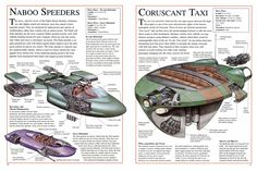 Naboo Speeders and Coruscant Taxi