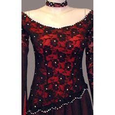Red Ballroom Dresses | Home » Black Red Lace Tango Paso Doble Ballroom Dress