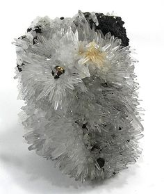 GEMMY quartz crystals profusely covering a rounded matrix, with coated pyrites here and there. This is a large specimen, and quite dazzling, as you can see!  9.5 x 8.7 x 5.9cm  Copyright © Rob Lavinsky & irocks.com