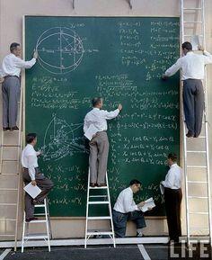 Científicos de la NASA durante el congreso de cálculo de 1961