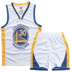 f28fe718 Sokaly Niños Chicago Bulls Jorden # 23 Curry#30 James#23 Conjunto de  Camiseta