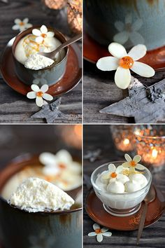 B comme Bon No Cook Desserts, Dessert Recipes, Mousse, Nice Cream, Food Presentation, Food Design, Food Styling, Caramel, Food Photography