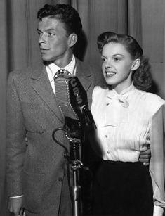 "miss-flapper: ""Frank Sinatra and Judy Garland, 1940s """