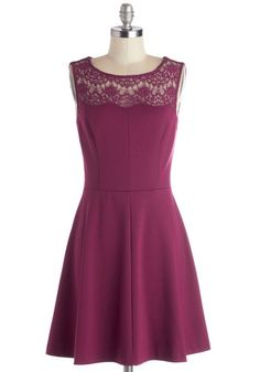 Conifer What It's Worth Dress in Fuchsia, #ModCloth