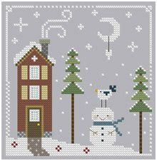 Winter Cross Stitch 8 by Theflossbox on Etsy