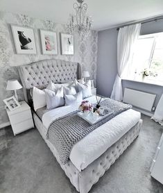 There are many types of bedroom interior design but the chic bedroom decor is the best ! Here are some of the beautiful pictures of chic bedroom design for helping you to decorate your bedroom. Silver Bedroom, Bedroom Inspiration Grey, Bedroom Interior, Comfortable Bedroom, Luxurious Bedrooms, Grey Bedroom Decor, Grey Bedroom Design, Bedroom Decor, Comfortable Bedroom Decor