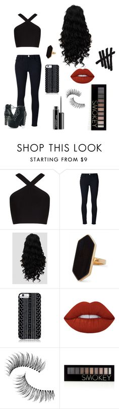 """""""Permanent Vacation"""" by an-internet-girl ❤ liked on Polyvore featuring BCBGMAXAZRIA, Frame Denim, Jaeger, Savannah Hayes, Lime Crime, Trish McEvoy, Forever 21, MAC Cosmetics, fandom and 5sos"""