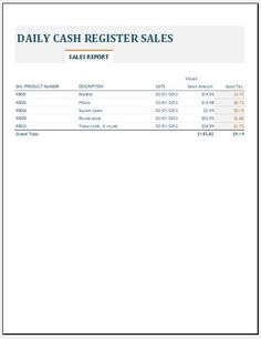 Regional Sales Report Template Download Free At HttpWww