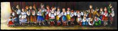 Waiting Backstage by Larisa Sembaliuk Cheladyn Ukrainian Art, My Heritage, Cross Stitch Embroidery, Backstage, Make Me Smile, Ukraine, Poland, Roots, Needlework