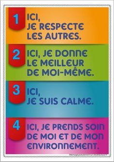 règles - put on the outside of the classroom door French Classroom Decor, Classroom Rules, Classroom Behavior, Classroom Posters, Classroom Setup, Classroom Activities, Classroom Management, Classroom Door, French Teaching Resources