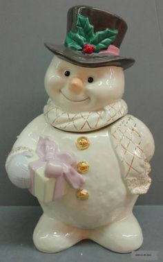 """The Snowman"" Cookie Jar by Lenox"