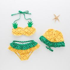 KAVKAS Baby Girls Swimwear Cute Pineapple Printing Swimsuit Kids Two Pieces Bathing Suites Girls Bikini Summer Beach Clothes Set Baby Bikini, Baby Girl Swimwear, Baby Girl Swimsuit, Girls One Piece Swimsuit, Kids Swimwear, Pineapple Bathing Suit, Pineapple Girl, Pineapple Bikini, Pineapple Design