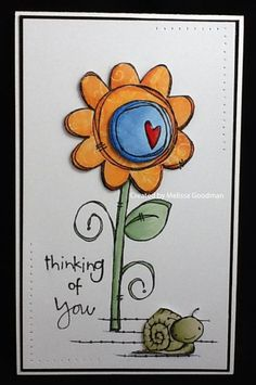 #papercraft #card by Melissa Goodman -Thinking of You