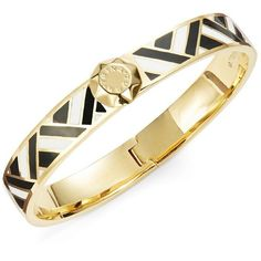 Trina Turk Woven Enamel Bangle Bracelet ($98) ❤ liked on Polyvore featuring jewelry, bracelets, black, cuff bangle, bangle cuff bracelet, braid jewelry, bracelets bangle and geometric jewelry
