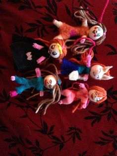 Doll project with the kidlets on holiday :-)