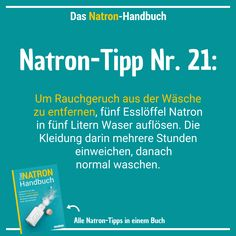 77 Natron-Anwendungen: Haushalt, Schönheit, Gesundheit & mehr At the soda-Tip 21 is about the smell of cigarette smoke in textiles. Because the white wonder remedy also helps here. Cooking Tips, Healthy Cooking, First Sewing Projects, Car Repair Service, Lose Weight, Weight Loss, Clothing Hacks, Logo Nasa, Life Hacks