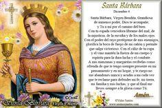 Imágenes de Cecill: Estampita y Oración a Santa Bárbara, Virgen y Mártir
