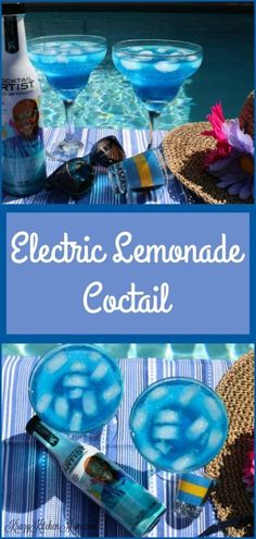 The Electric Lemonade Cocktail gets its blue color from a liqueur called Blue Curacao. This cocktail has the tangy sweet flavor of lemonade with the warmth and smoothness of the vodka, and a slight orange flavor from Blue Curacao - all showcased in a beautify blue color. #bluecocktails #bluecuraco #cocktailartist #happyhour #brunchcocktail #homebartender #imbibe