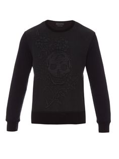 Skull-jacquard sweatshirt by Alexander McQueen | Shop now at #MATCHESFASHION.COM