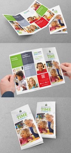 Learning Center   Elementary School brochure design    design     Social networking is a superb means to interact with the customer or  potential clients  Know that social media is quite a significant part your  compan