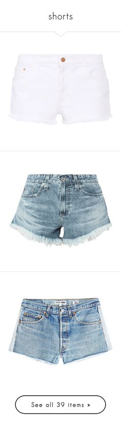 """shorts"" by julz28520 ❤ liked on Polyvore featuring shorts, bottoms, denim, stella mccartney, white, ruffle shorts, jean shorts, embroidered denim shorts, denim shorts and white ruffle shorts"