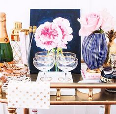 Bar Cart styled by Mimosas  Monroe