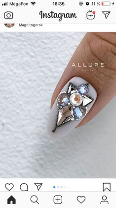 Nail Art Wheel, Caviar Nails, Animal Nail Art, Crystal Nails, Almond Nails, Nail Manicure, Short Nails, Nail Arts, Nails Inspiration