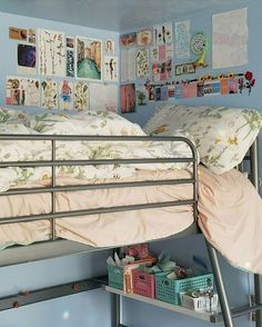 Dorm-Room-Design-Ideas-Girl/ garden planning, dream bedroom, bunk beds, f. Room Ideas Bedroom, Diy Bedroom Decor, Wall Decor, Bedroom Inspo, Diy Wall, Dream Rooms, Dream Bedroom, Bedroom Loft, Deco Studio