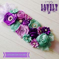 Maternity flower sash/ gender reveal flower sash ,Pregnant  flower ribbon  belt , flower belt , ribbon belt , pregnent photo flower belt on Etsy, $37.00