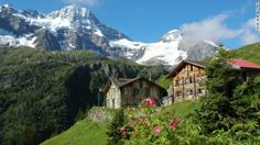 Mountain Hotel Obersteinberg - lodge w/out electricity or running water in the Swiss Alps