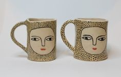KinskaShop Dot by Dot Wonky Beauties Ceramic Espresso Cups