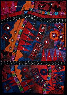 Jamie Fingal, Orange, California.  Creates one-of-a-kind quilts.