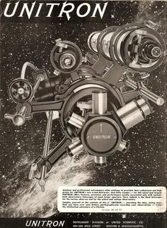 Vintage Unitron advertisement, circa 1960's.