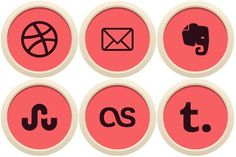 Free Icons: Iconset: Flatin Social Icons by uiconstock | Social | uiconstock