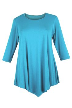 2fc98ff5e6a Curvylicious Women s Plus Size 3 4 Sleeve Round Neck Tunic Top ( 14.99) http