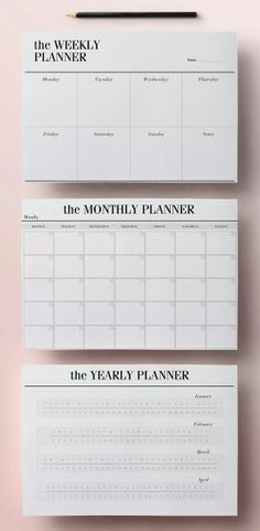 What u prefer weakly planer/month or year??